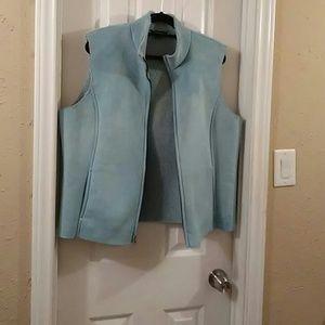 Land's End women's sherpa vest coat jacket